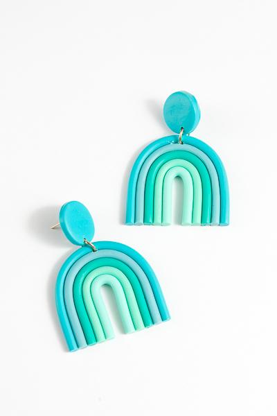 Clay Rainbow Earrings
