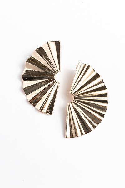 Folded Fan Earrings