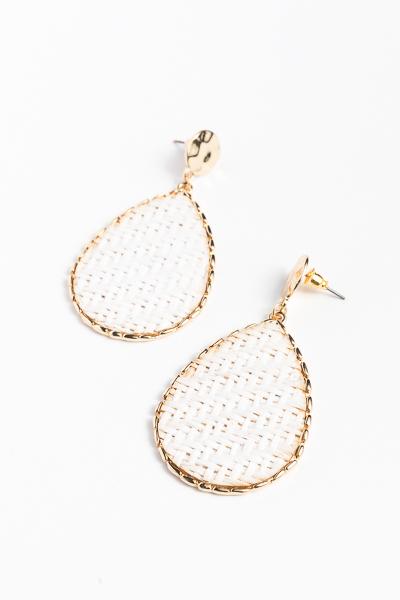 Basket Teardrops, White