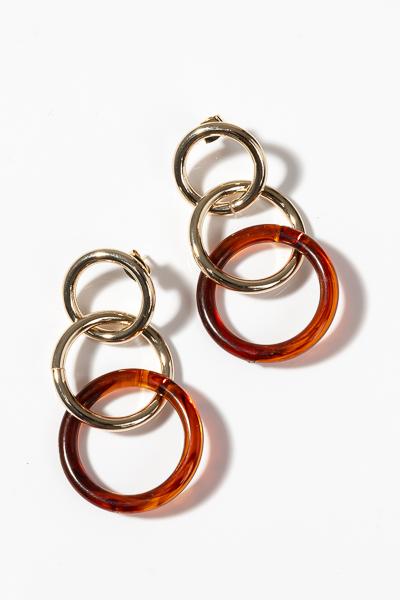 Brown Acrylic Rings Earring