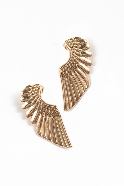 Angel Wing Earring, Gold