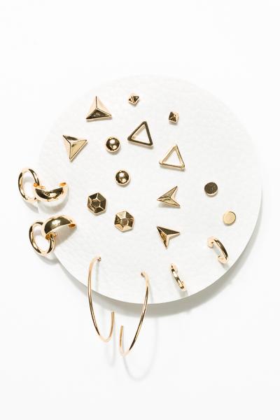 10 Set Earrings, Triangle