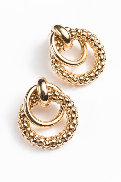Chain Door Knocker Earrings, Gold