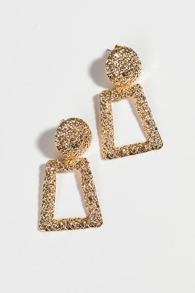 Madi Geo Earring, Gold