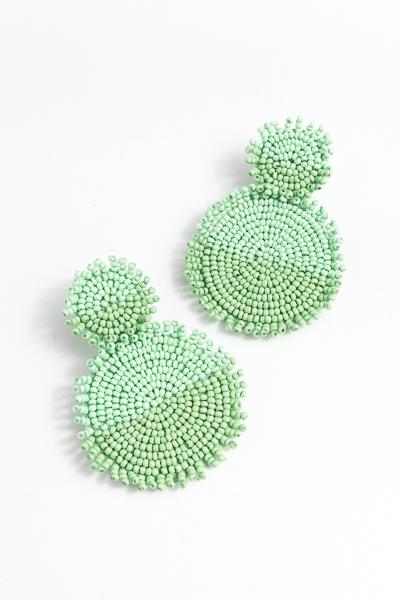 Double Mint Discs Earring