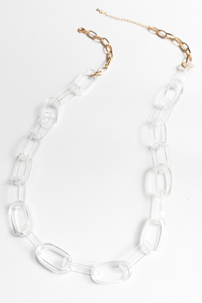 Long Clear Links Necklace