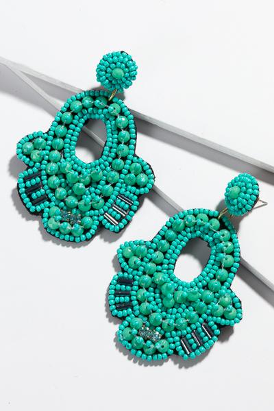 Bougie Bead Earring, Turquoise