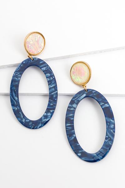 Blue Domino Duo Earrings