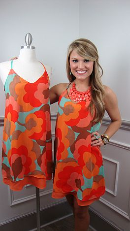 Judith March Floating Poppies Dress