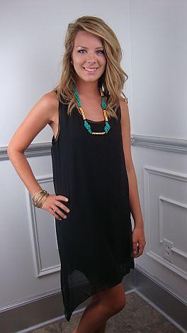 Lackadaisacal Dress, Black
