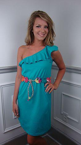 Flower Belt Dress