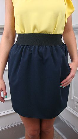 Solid Navy Skirt