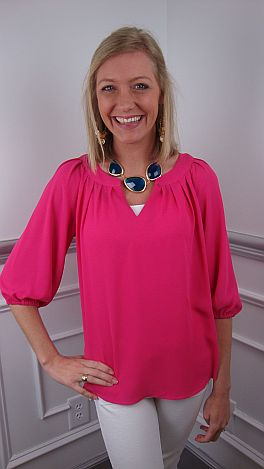 Simply Yours Blouse, Pink