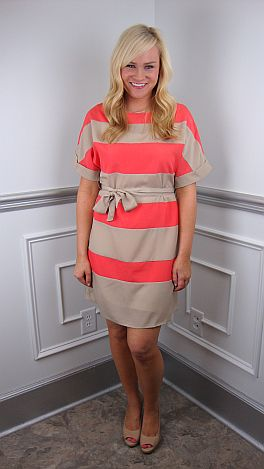 Nine To Five Stripe Dress