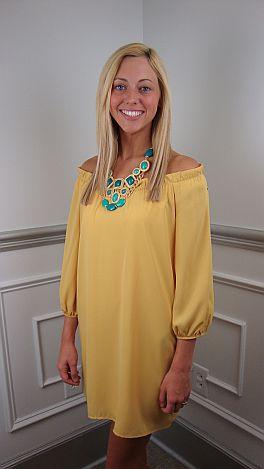 Naomi Dress, Yellow