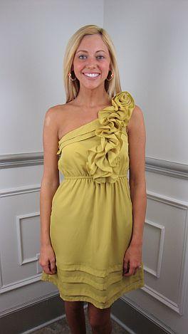 Last Dance Dress, Chartreuse