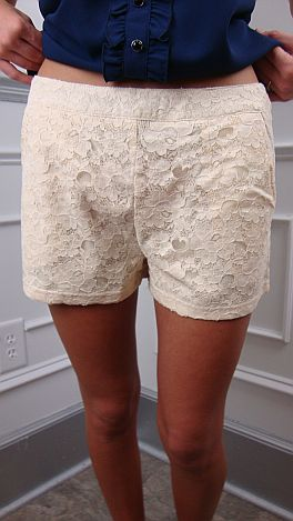 Lace Me Up Love Shorts