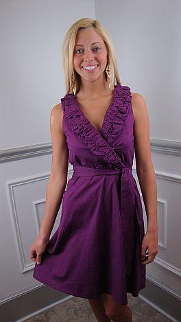 Classic Twist Dress, Purple