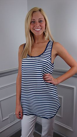 Perfect Parallel Tank, Navy