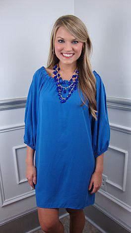 Naomi Dress, Blue