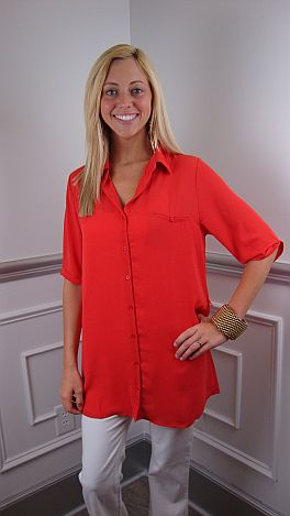 The Amy Tunic, Coral