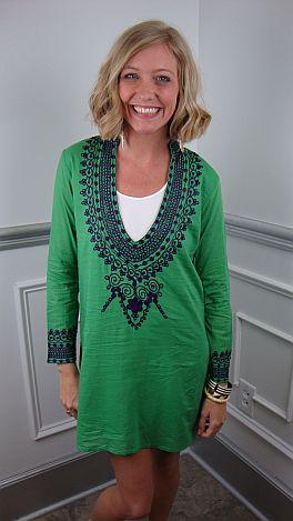 Coco Beach Tunic, Green