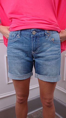 Prima Donna Shorts, Light Wash