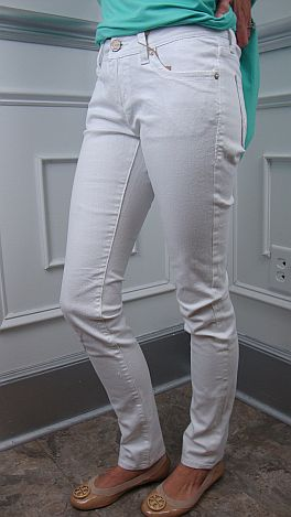 Pure White Skinny Jeans