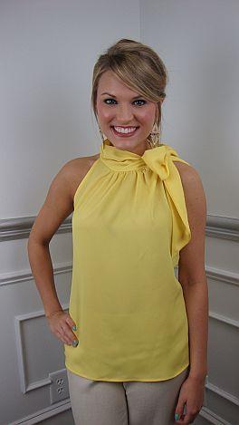 Prep School Top, Yellow