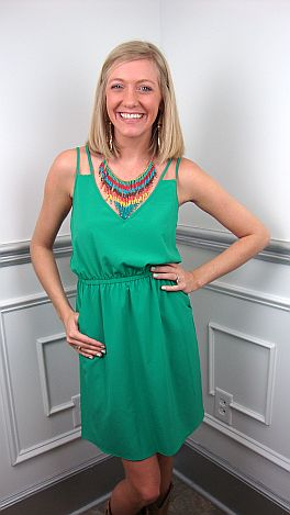 Double The Fun Dress, Green