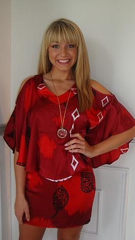 Ruby Red 2-Ways Dress