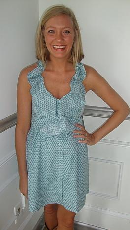 Tiffany Blue Birds Halter Dress