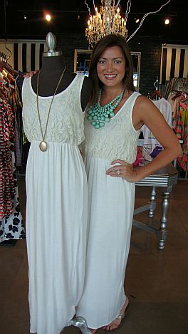 Speed Demon Lace Maxi, Ivory