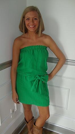 Clover Linen Tube Dress