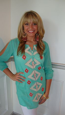 Sea Island Diamonds Tunic