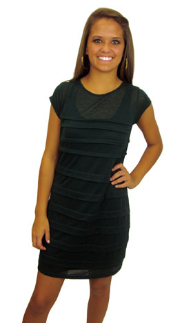 Double or Nothing Dress, Dark Green