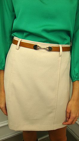 Belt it Out Skirt, Sand