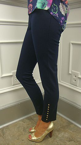 Divine Cropped Pant, Navy