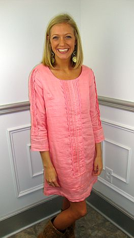 Lilly Linen Shift, Pink