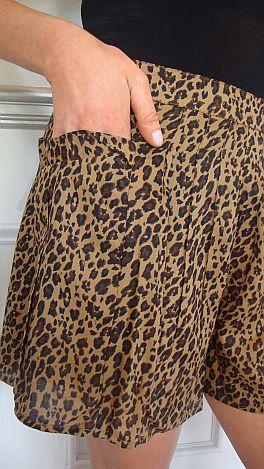 Leopard Cool Skort