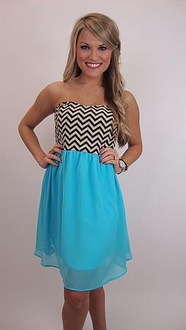 Chasing Chevy Dress, Blue