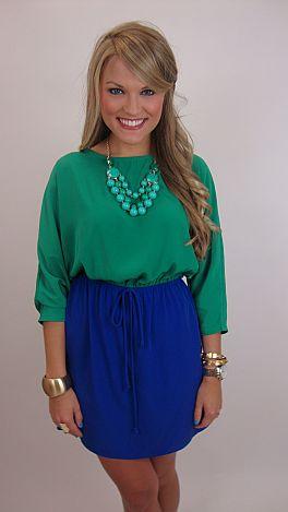 Can You Duet Dress, Green