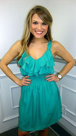 Simple Slip Dress, Jade