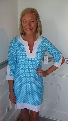 Aqua Geo Tunic Dress