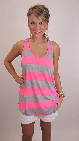 Mary Jane Tank, Neon Pink