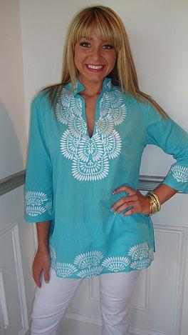 Lisa Aqua Tunic