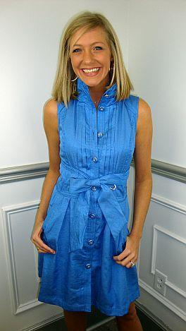 Kate Corset Back Sleeveless, Blue