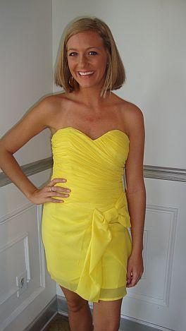 Lemon Sweetheart Bow Dress