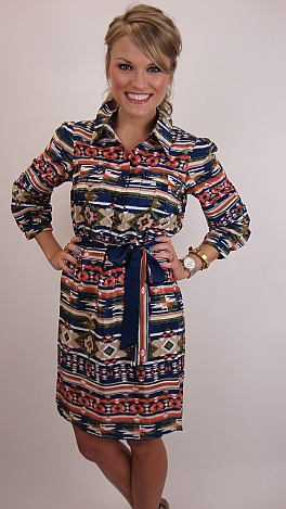 Apache Tribe Shirtdress