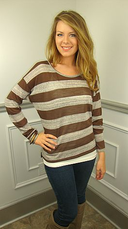 The Ashley Tunic, Brown